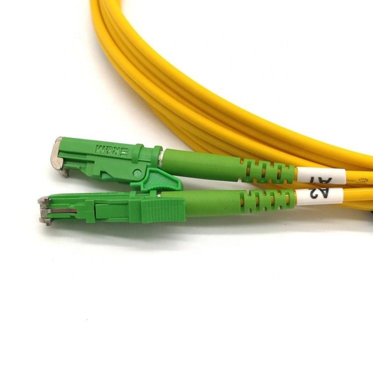 LSZH Optical Fiber Patch Cord E2000 9/125 SM Connectors Duplex Cable